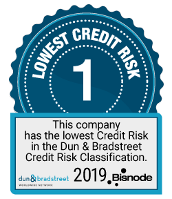This company has the lowest Credit Risk in the Dun & Bradstreet Credit Risk Classification / Tällä yrityksellä on alhaisin luottoriski Dun & Bradstreet -luottoriskiluokituksessa